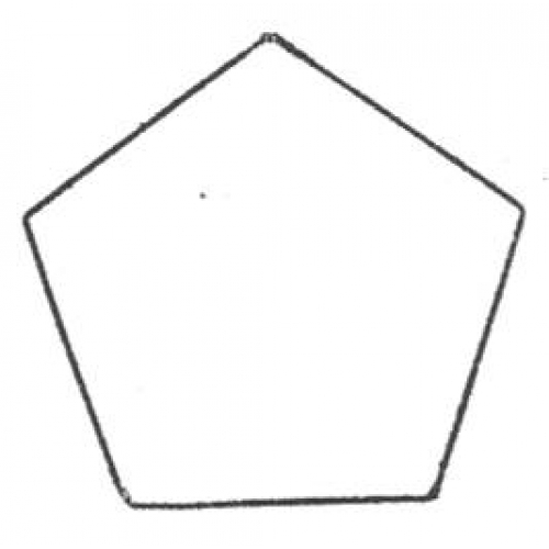 Free coloring pages of pentagonal prism for Pentagon coloring page