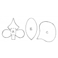 Moth orchid set of 3 - 4870