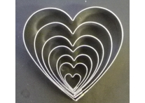 Heart set of 7 - 9322
